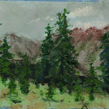 "From Richmond Ridge, oil on paper, 7""x9-1/4,"" 2002 – LP-106"