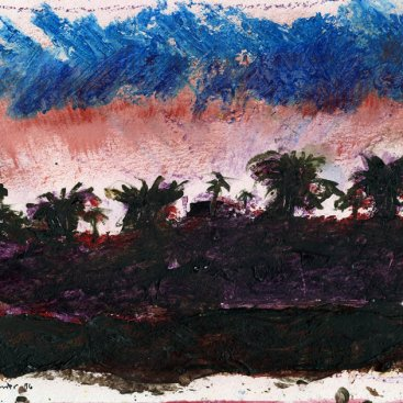 "Inspired by Redlands, oil on paper, 7""x9-1/4,"" 1996 – LP-50"