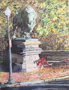 "Immortalized, An Icon Almost Gone, watercolor, 24""X18"", 1982"