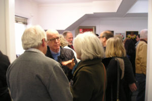 A good crowd all afternoon for the opening reception.