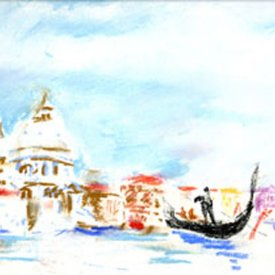 "Grand Canal Venice, pastel, 14""X18"", 2000"